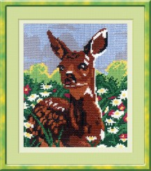 Fawn - Counted Cross Stitch Kit with Color Symbolic Scheme