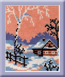 February - Counted Cross Stitch Kit with Color Symbolic Scheme