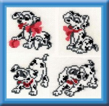 4 Dalmatian - Cross Stitch Kit with Color Symbolic Scheme
