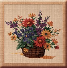 Gladiolas - Counted Cross Stitch Kit with Color Symbolic Scheme