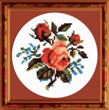 Roses - Counted Cross Stitch Kit with Color Symbolic Scheme