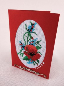 Poppy - Cross Stitch Kit with Color Symbolic Scheme
