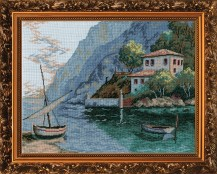 Sea Bank - Cross Stitch Kit with Color Symbolic Scheme