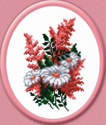 Bouquet - Counted Cross Stitch Kit with Color Symbolic Scheme
