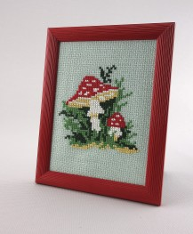 Amanita - Cross Stitch Kit with Color Symbolic Scheme
