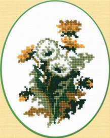 Dandelion - Counted Cross Stitch Kit with Color Symbolic Scheme