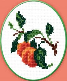 Apricots - Counted Cross Stitch Kit with Color Symbolic Scheme