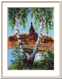 Kizhi - Counted Cross Stitch Kit with Color Symbolic Scheme