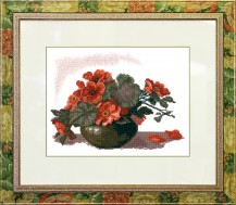 Azaleas - Cross Stitch Kit with Color Symbolic Scheme