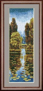 Landscape - Counted Cross Stitch Kit with Color Symbolic Scheme