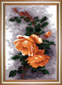 Yellow Roses - Counted Cross Stitch Kit with Color Symbolic Scheme