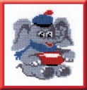 Baby Elephant - Counted Cross Stitch Kit with Color Symbolic Scheme