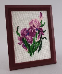 Irises - Counted Cross Stitch Kit with Color Symbolic Scheme