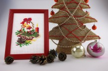 Basket - Counted Cross Stitch Kit with Color Symbolic Scheme