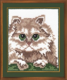Persian Cat - Cross Stitch Kit with Color Symbolic Scheme
