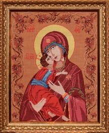 Holy Mother - Cross Stitch Kit with Color Symbolic Scheme