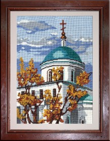 Church Of The Ascension - Counted Cross Stitch Kit with Color Symbolic Scheme