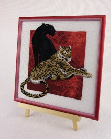 Panther With Leopard - Cross Stitch Kit with Color Symbolic Scheme