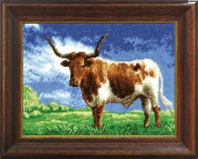 Bull In The Field - Cross Stitch Kit with Color Symbolic Scheme