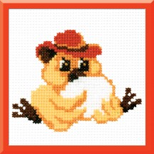 Chicken With Egg - Counted Cross Stitch Kit with Color Symbolic Scheme