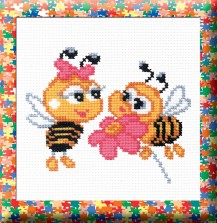 Bees - Counted Cross Stitch Kit with Color Symbolic Scheme