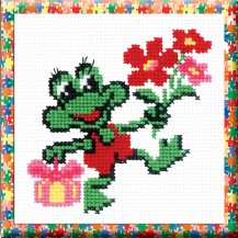 Toad - Cross Stitch Kit with Color Symbolic Scheme