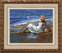 By The Sea - Cross Stitch Kit with Color Symbolic Scheme