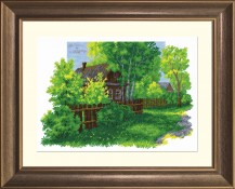 Country Landscape - Cross Stitch Kit with Color Symbolic Scheme