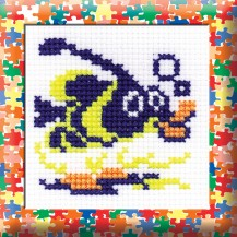 Fish - Counted Cross Stitch Kit with Color Symbolic Scheme