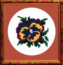Heartsease - Counted Cross Stitch Kit with Color Symbolic Scheme