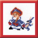 Snowmaiden - Counted Cross Stitch Kit with Color Symbolic Scheme