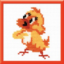 Chicken - Counted Cross Stitch Kit with Color Symbolic Scheme