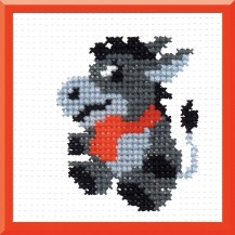 Burro - Counted Cross Stitch Kit with Color Symbolic Scheme