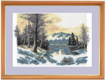 Winter Day - Cross Stitch Kit with Color Symbolic Scheme