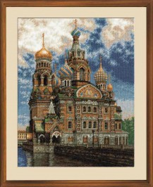 The Church Of The Spilled Blood - Counted Cross Stitch Kit with Color Symbolic Scheme