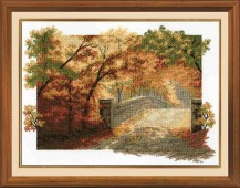 Autumn Bridge - Cross Stitch Kit with Color Symbolic Scheme