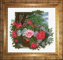 Joy Flowers - Counted Cross Stitch Kit with Color Symbolic Scheme