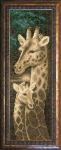 Giraffe  - Cross Stitch Kit with Color Symbolic Scheme