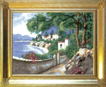 Coast  - Cross Stitch Kit with Color Symbolic Scheme