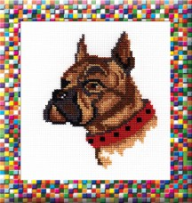 Boxer - Cross Stitch Kit with Color Symbolic Scheme