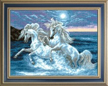 From Sea Foam - Cross Stitch Kit with Color Symbolic Scheme