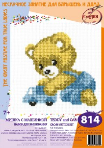 Bruin - Cross Stitch Kit with Water Soluble Color Scheme Printed on Canvas